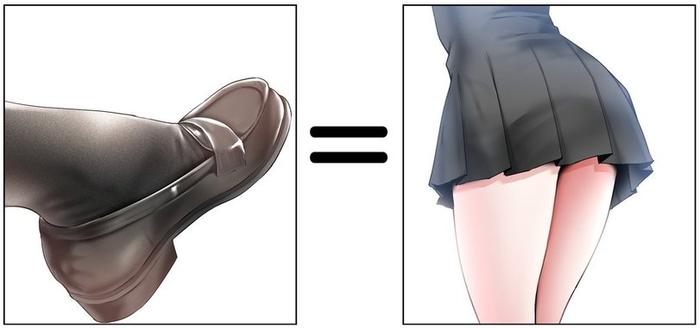 Ну всё, сейчас полетят минусы за ноги Скриншот, Аниме, Anime Art