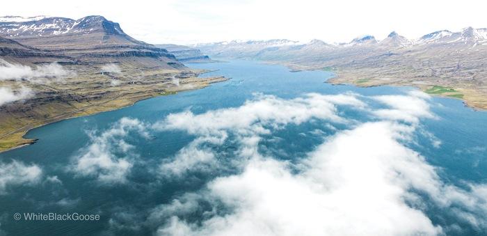Фьорд Квадрокоптер, Фьорды, Исландия