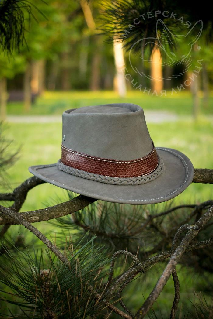 Серая шляпа с отделкой змеиной кожей Ручная работа, Шляпа, Крафт, Своими руками, Длиннопост, Рукоделие без процесса