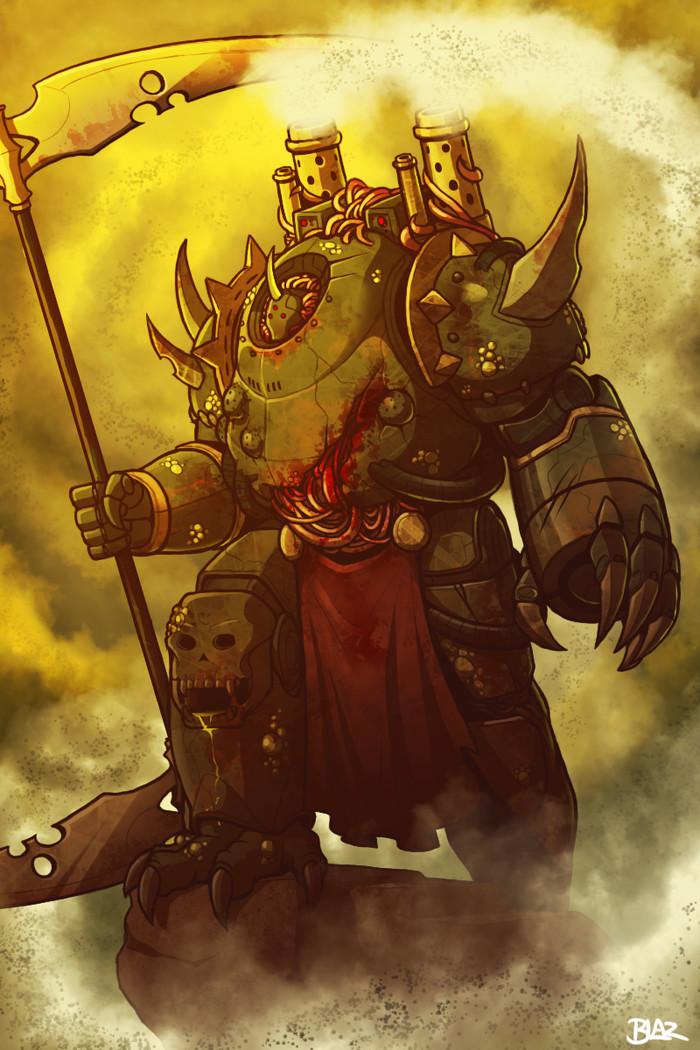 Plague Marine. Арт, Фан-Арт, Plague Marine, Warhammer 40k, Wh Art, Blazbaros