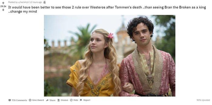 Про концовку Игры престолов... Игра престолов, Игра престолов 8 сезон, Альтернативная концовка, Reddit