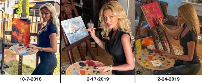 Инстаграмная реальность Инстаграммеры, Палитра с красками, Художник, Позёрство