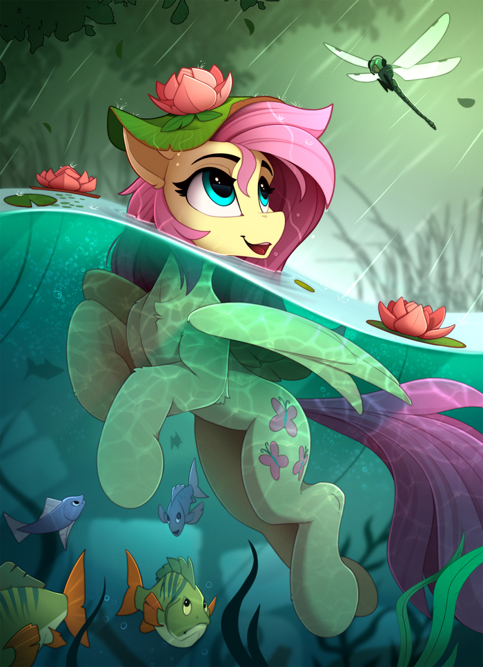Swimming In The Rain My Little Pony, Fluttershy, Yakovlev-Vad