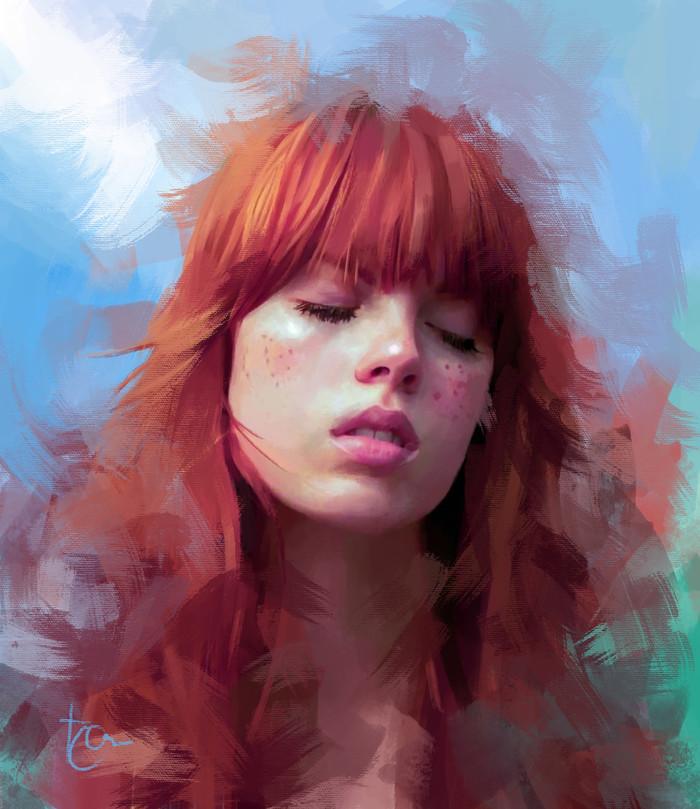 Рыжие девушки в исполнении разных художников Арт, Девушки, Рыжие, Длиннопост