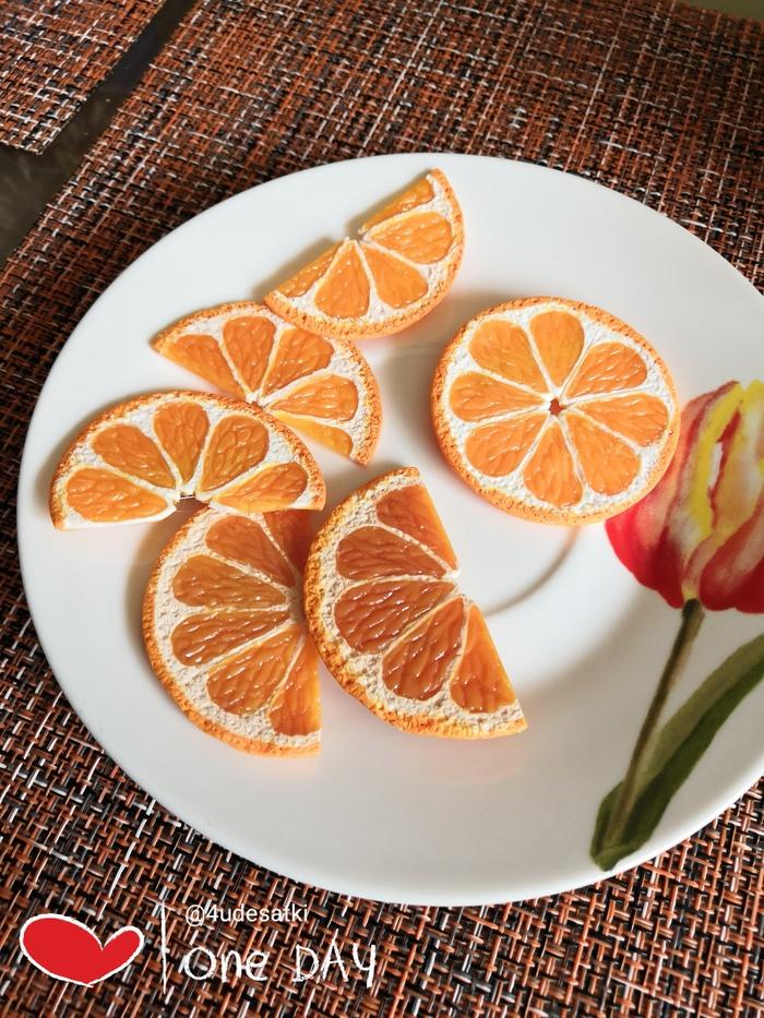 Брошки апельсиновые Полимерная глина, Фимо, Рукоделие без процесса, Своими руками, Брошь, Серьги, Апельсин, Длиннопост