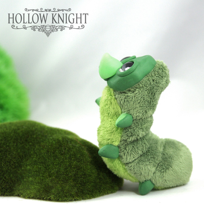 Гусеничка из Hollow Knight Hollow Knight, Рукоделие без процесса, Гусеница, Милая гусеничка, Полимерная глина, Авторская игрушка, Длиннопост