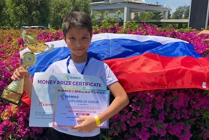 Магомед Кагиров родом из Дагестана стал двухкратным чемпионом по ментальной арифметике Соревнования, Дагестан, Победа, Кавказ, Россия, Новости, Арифметика, Молодец