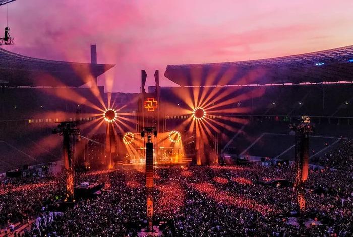 Концерт Rammstein на Олимпийском стадионе в Берлине Rammstein, Концерт, Фотография, Берлин, Германия, Длиннопост