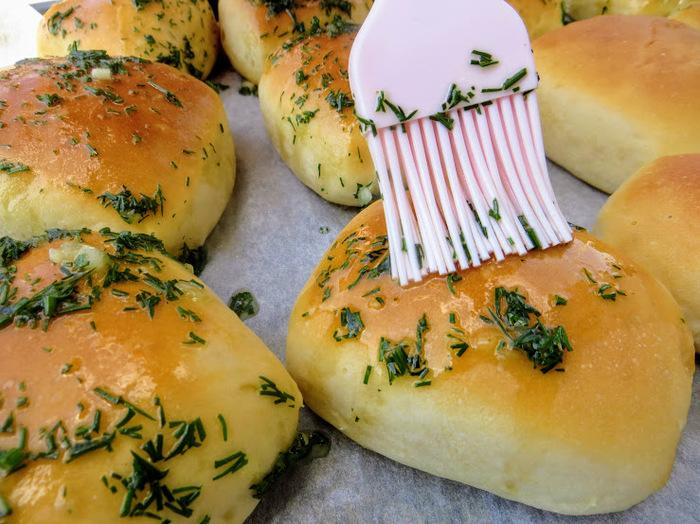 Вместо хлеба Булочки, Чесночные пампушки, Дрожжевое тесто, Другая кухня, Рецепт, Вкусно, Приготовление, Видео, Длиннопост