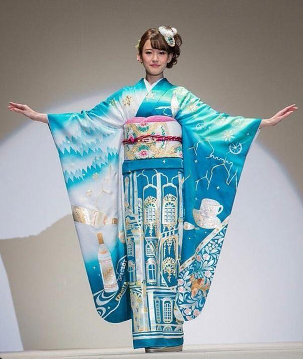 Кимоно в стиле стран мира к Олимпиаде 2020 Япония, Токио, Олимпиада, Длиннопост