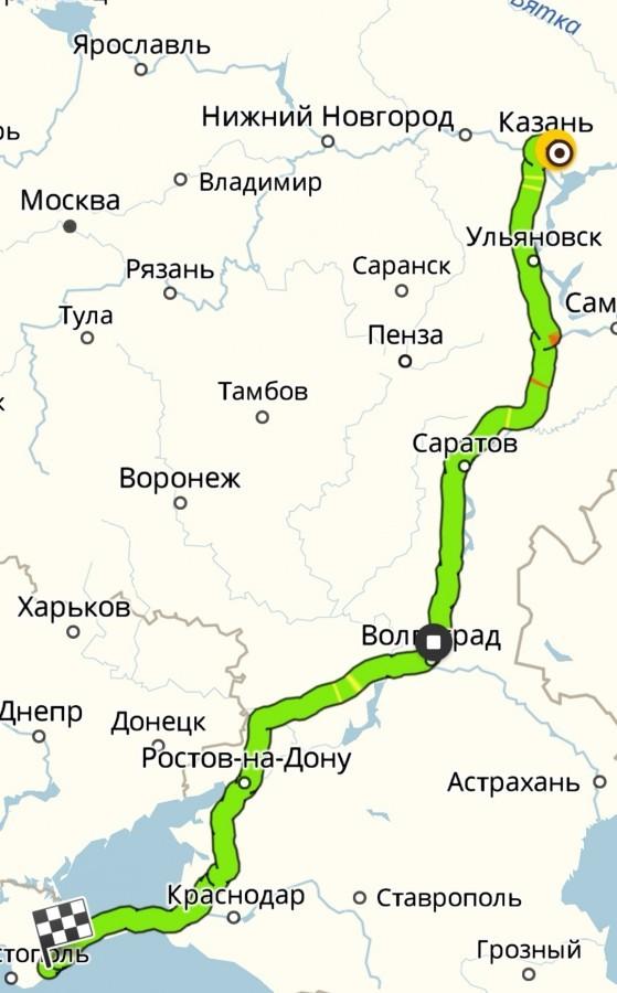 карты определить маршрут