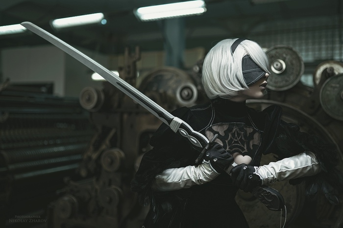 NieR: Automata / part II Косплей, Русский косплей, NIER Automata, Yorha unit No 2 type B, Yorha No 9 type S, Yorha unit No 2 type a, Длиннопост