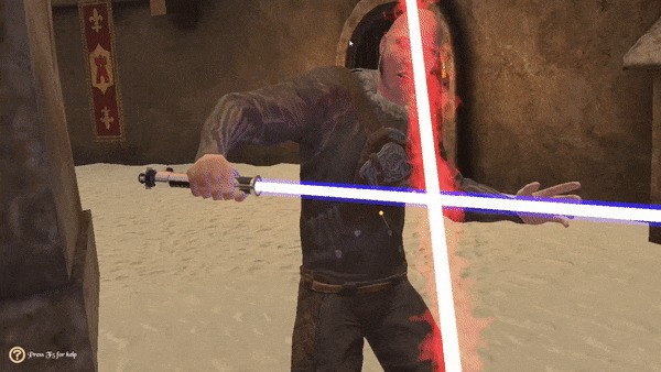 Бой на световых мечах от первого лица