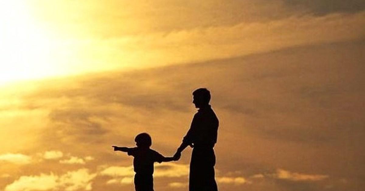 Открытка сын с папой