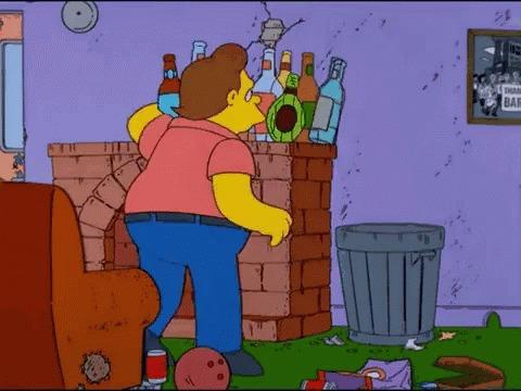 Симпсоны на каждый день [3_Октября] Симпсоны, Каждый день, День трезвости, Алкоголь, Алкоголики, Алкоголизм, Гифка, Длиннопост