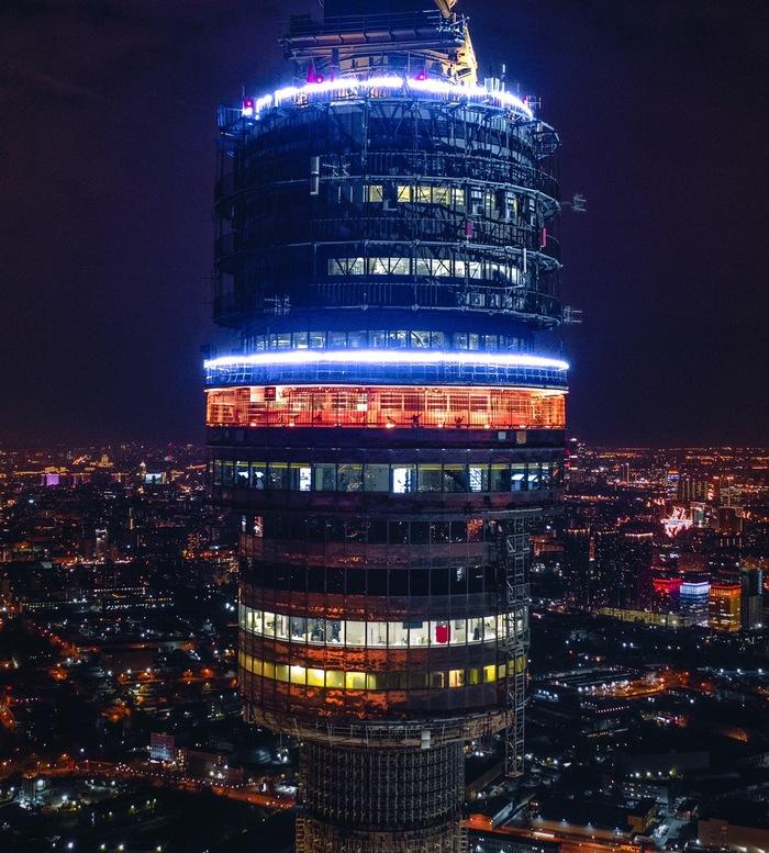 Останкинская башня ночью