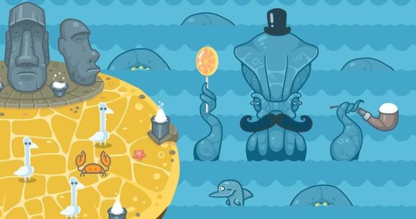 Гуси vs Ктулху. Об игре. Ещё бесплатные обои и постеры. Гусь, Ктулху, Инди игра, Steam, Постер, Обои на рабочий стол, Гифка, Длиннопост
