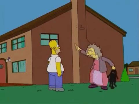 Симпсоны на каждый день [27_Октября] Симпсоны, Каждый день, Кот, Черный кот, Гифка, Длиннопост