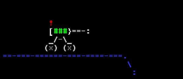ASCII анимация на прикольном девайсе ASCII Art, Схемотехника, Видео, Гифка
