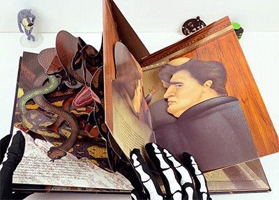 Панорамная pop-up книга фобий Книги, Pop-Up, Страх, Фобия, Интересное, Гифка, Видео, Длиннопост