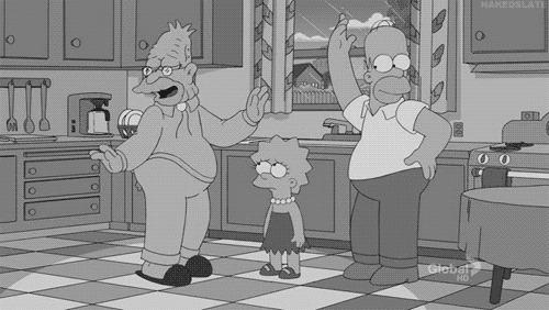 Симпсоны на каждый день [9_Ноября] Симпсоны, Каждый день, Черно-белое, Фильмы, Кинематограф, Гифка, Длиннопост