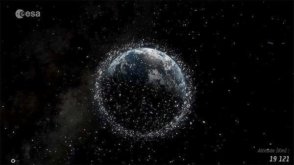 Российская компания Easar ведёт эскизное проектирование спутника для сжигания космического мусора Космос, Спутник, Мусор, Солнечное излучение, Гифка