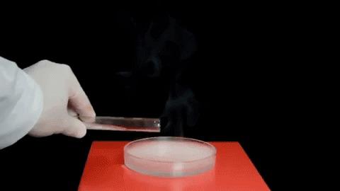 Бор в гифках Гифка, Химия, Эксперимент, Огонь, Взрыв, Бор, Длиннопост, Наука