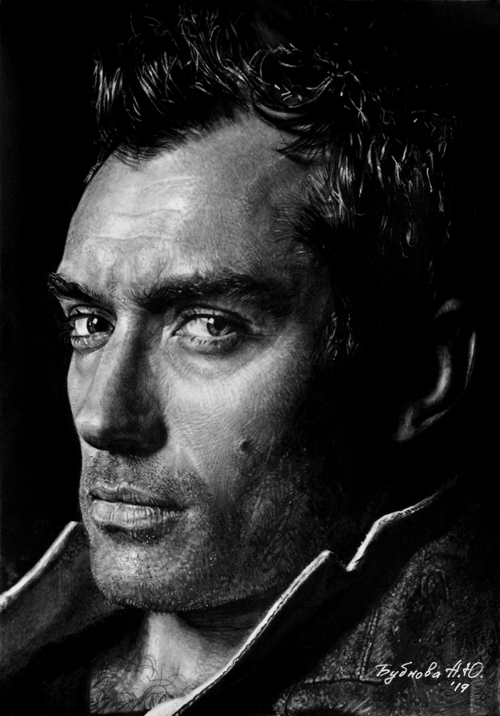 Портрет карандашом. Джуд Лоу