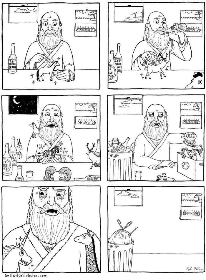 Тайна создания Комиксы, Imitationlobster, Создатель, Пятый день