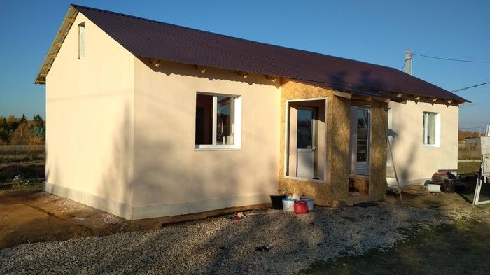 История одного строительства или как построить один жилой дом из двух морских контейнеров (часть вторая) Стройка, Дом из контейнера, Длиннопост, Контейнер, Своими руками