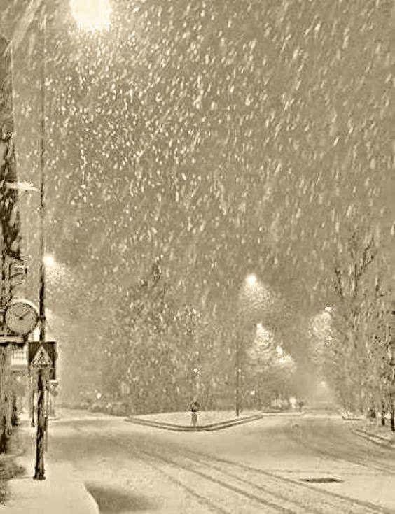 Стена снега