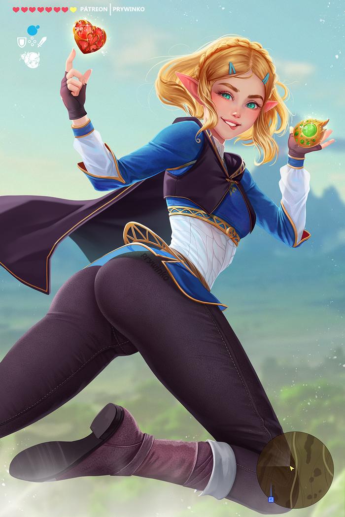 Zelda Prywinko, Princess Zelda, The Legend of Zelda, Breath of the Wild, Игры, Арт, Длиннопост
