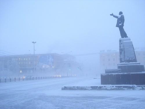 Якутск.Зима Якутск, Зима, Длиннопост
