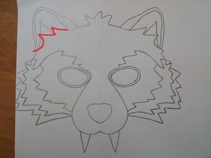 Маска волка своими руками Рукоделие с процессом, Волк, Маска, Фетр, Своими руками, Длиннопост, Новый год, Карнавал