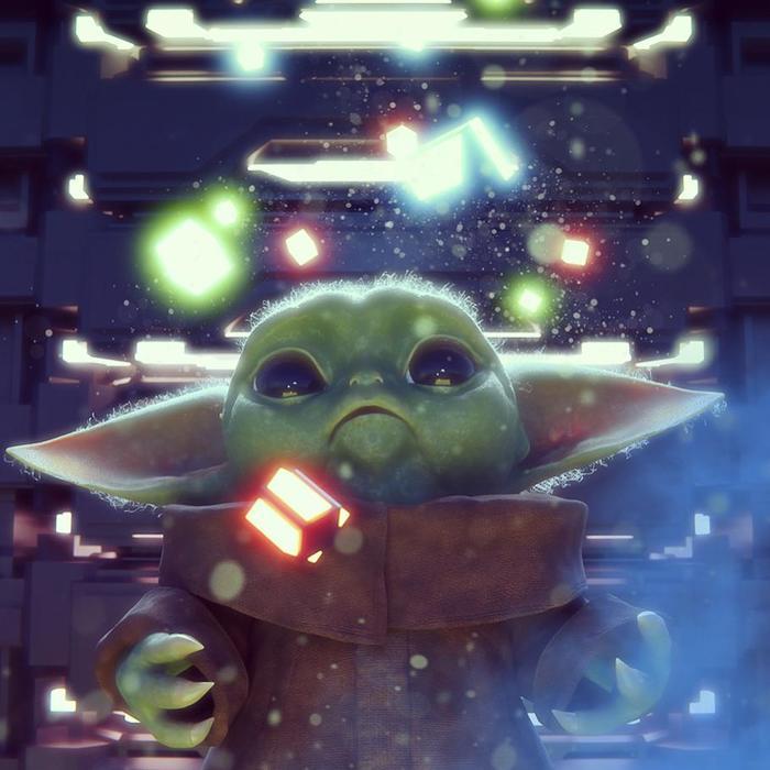"Фан-арт: ""малыш Йода за тренировкой"" Star Wars, Фан-Арт, Мандалорец"