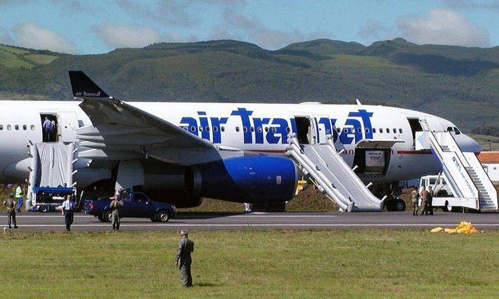 Планер Азорских островов Самолет, Авиация, Инцидент, Утечка, Посадка, Планер, Airbus, Длиннопост