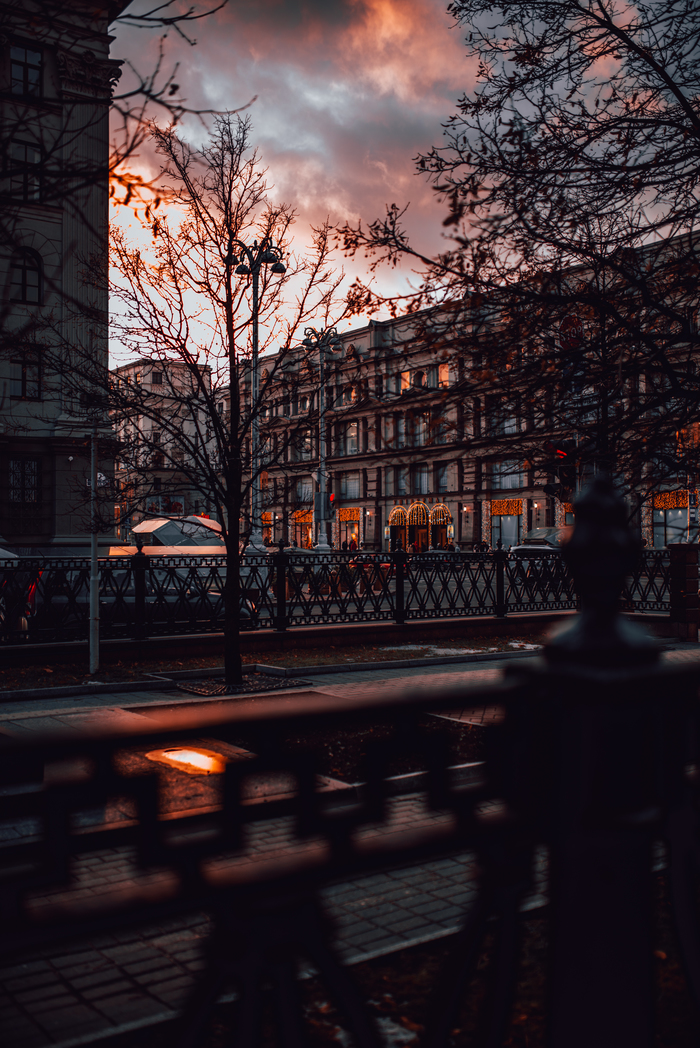 Минск прекрасный Минск, Республика Беларусь, Фотография, Осень, Город, Закат, Coca-Cola, Длиннопост
