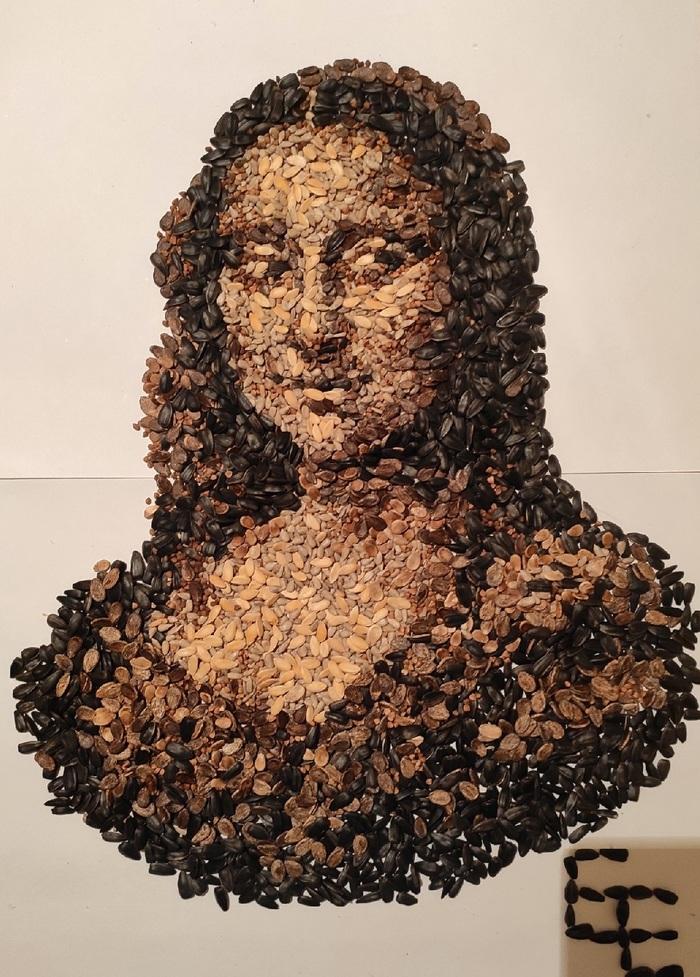 Мона Лиза из семечек