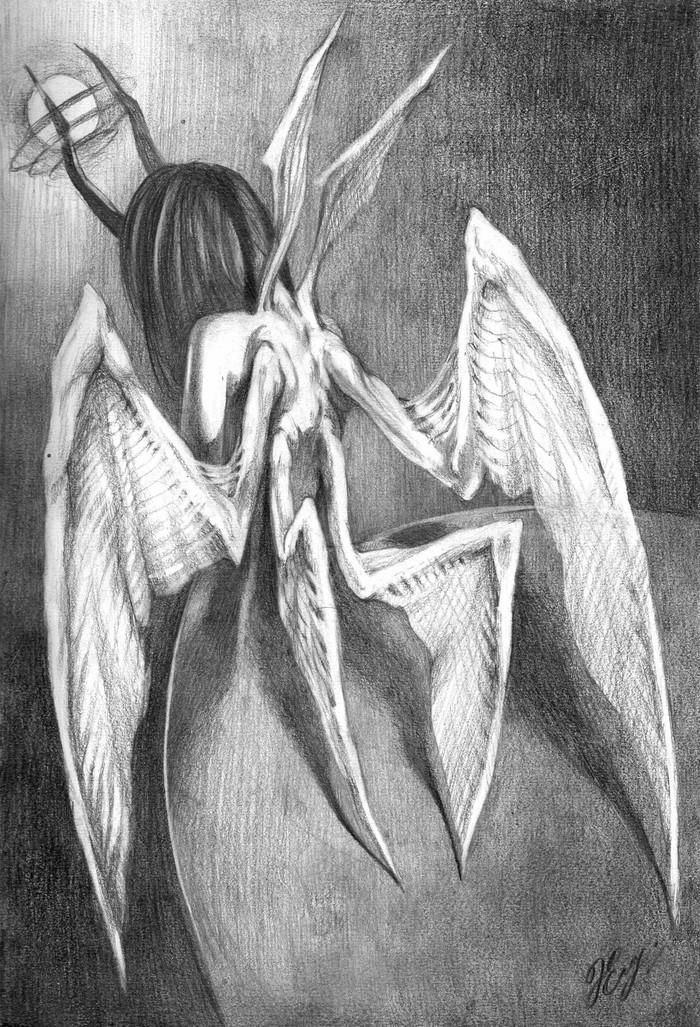 грустный ангел картинки карандашом подготовленная воительница
