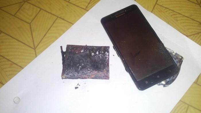 Взорвался смартфон Lenovo A5000