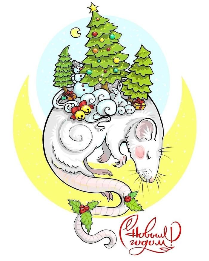 Новогодние спящие крыски