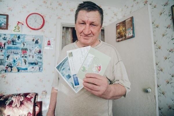 Новогодние открытки на льду, которые видны из космоса, делает инвалид-пенсионер в селе Марково Благовещенск, Открытка, Новый Год, Доброта, С наступающим, Длиннопост, Дедушка Валерий