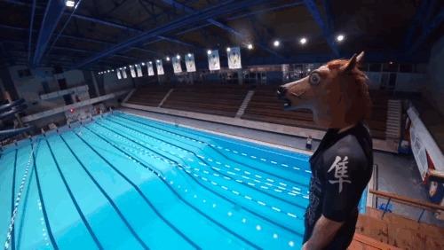 Первый слепой прыгун с 10-метровой вышки Прыжки в воду, Незрячий, Вышка, Спорт, Мотивация, Здоровье, Гифка, Видео, Длиннопост