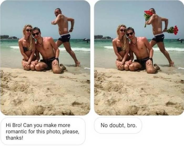 Братан, ты не можешь сделать это фото поромантичнее?