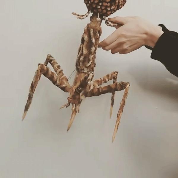Макет вируса-бактериофага Вирус, Макет, Крипота, Кукла, Гифка