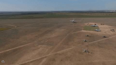 Ил-76 - посадка на грунтовый аэродром