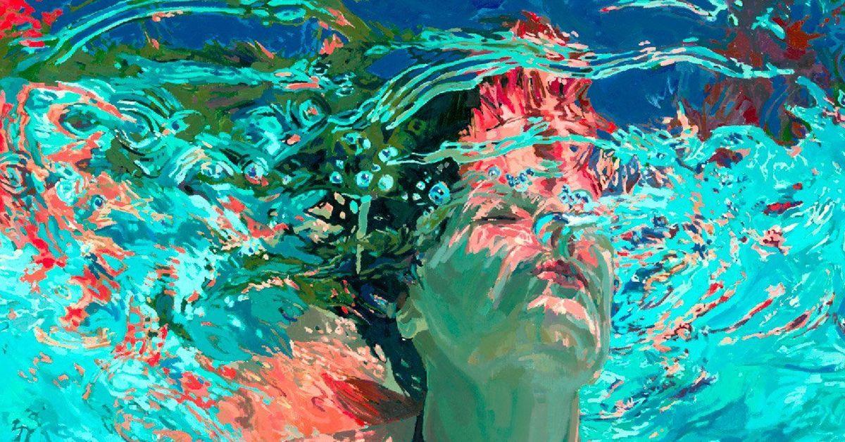 underwater painting of people by houston - HD1500×1179