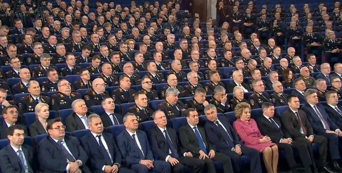 Валентина Матвиенко на расширенном заседании коллегии МВД