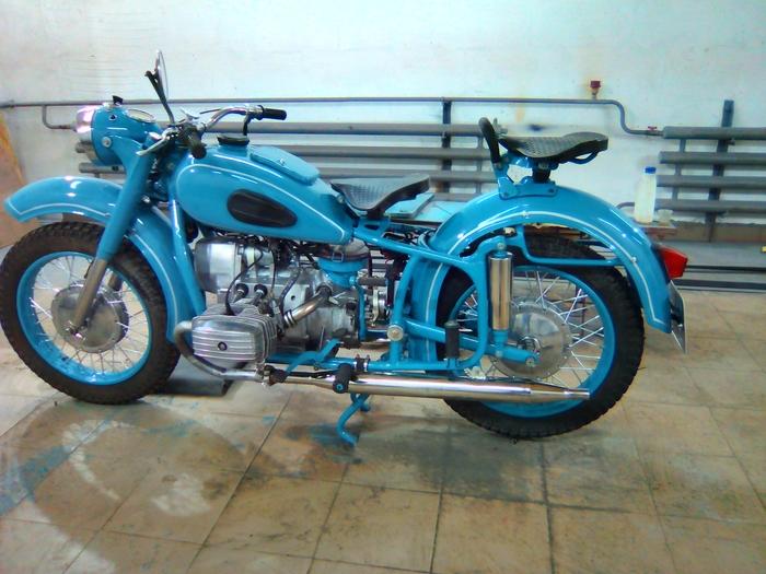 Восстановил мотоцикл МТ9, 1971г