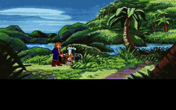 Monkey Island 2: LeChuck's Revenge (часть 2) 1991, Прохождение, Monkey Island, Lucasarts, Квест, Игры для DOS, Компьютерные игры, Ретро-Игры, Гифка, Длиннопост
